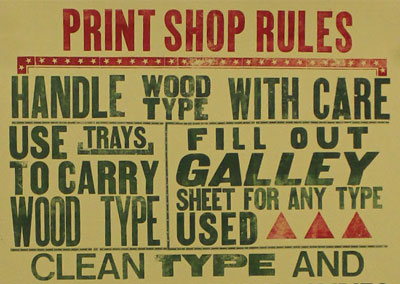 Letterpress Poster Workshop at LCBA
