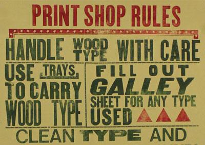 Letterpress Poster Workshop at LCBA